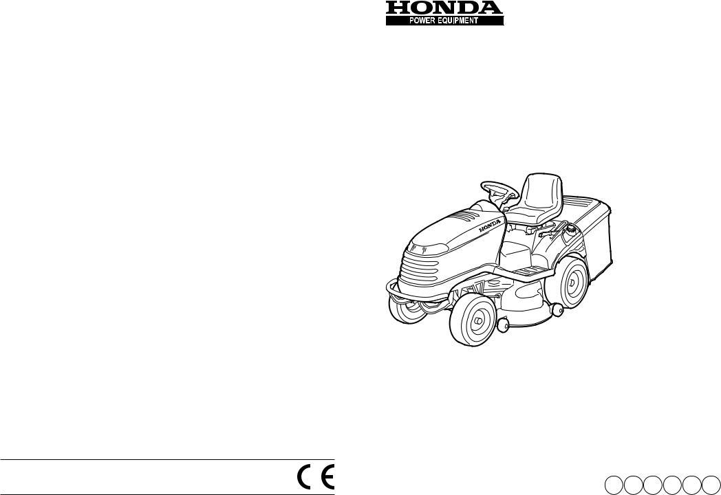 Honda Power Equipment HF2417HME, HF2417HTE, HF2415SBE