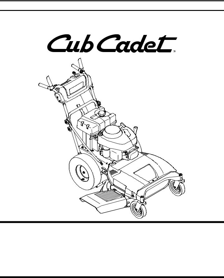 Cub Cadet Time Save User Manual
