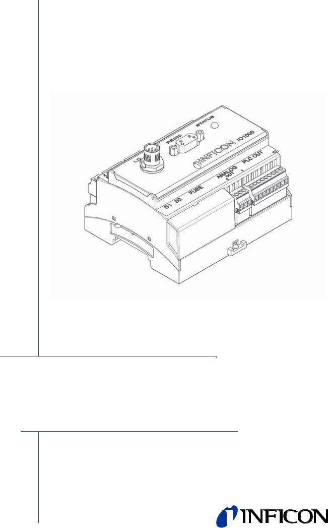 INFICON I/O1000 I/O module User Manual