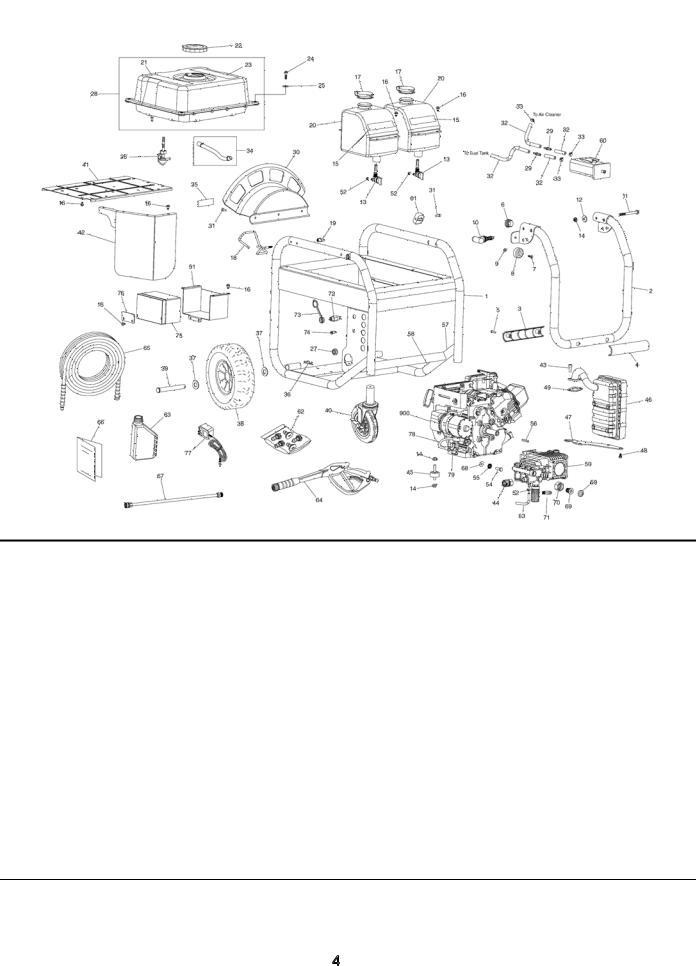 Husqvarna 020524-00 3, 300 PSI, Pressure Washer 020524-00