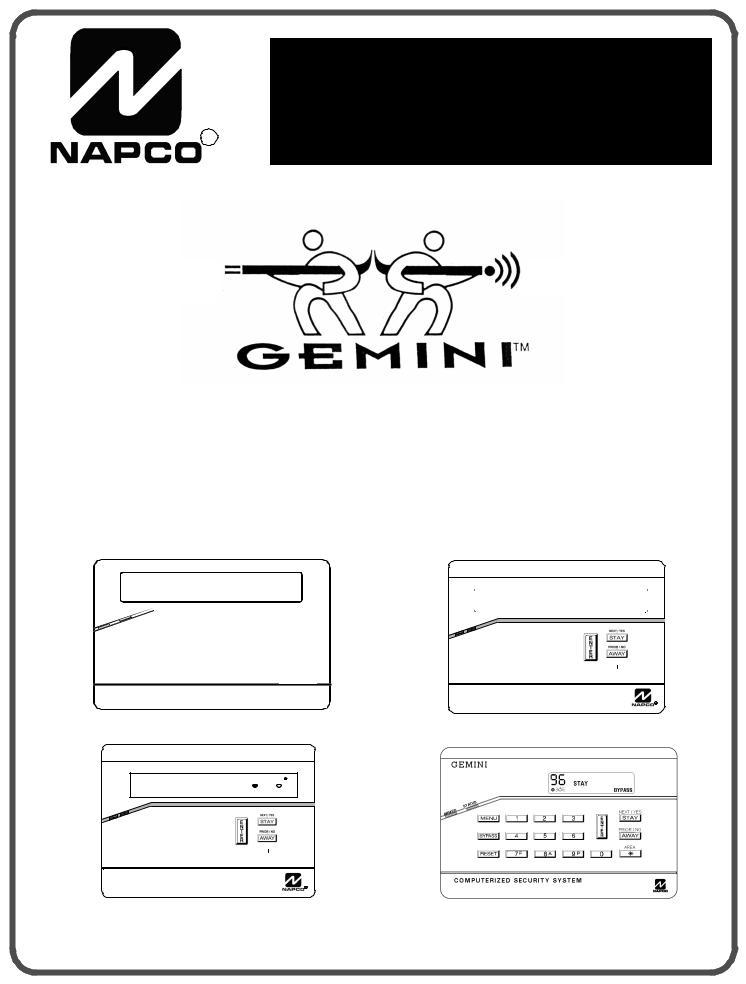Napco Security Technologies GEM-P1664 User Manual
