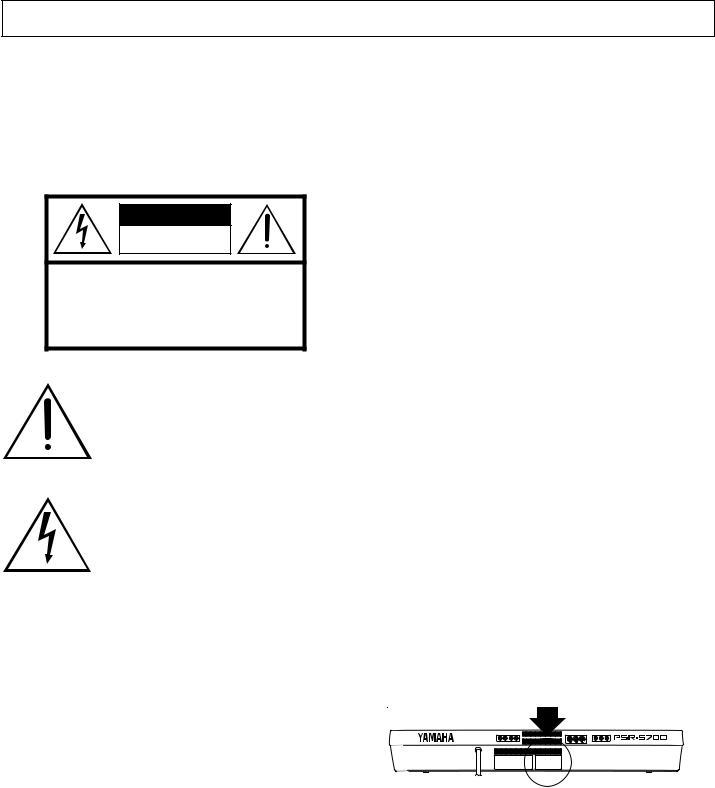 Yamaha Audio PSR-5700 User Manual