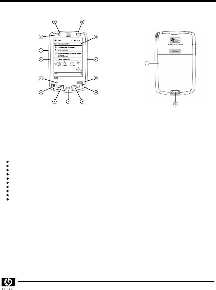 HP IPAQ Pocket PC hx2110 User Manual
