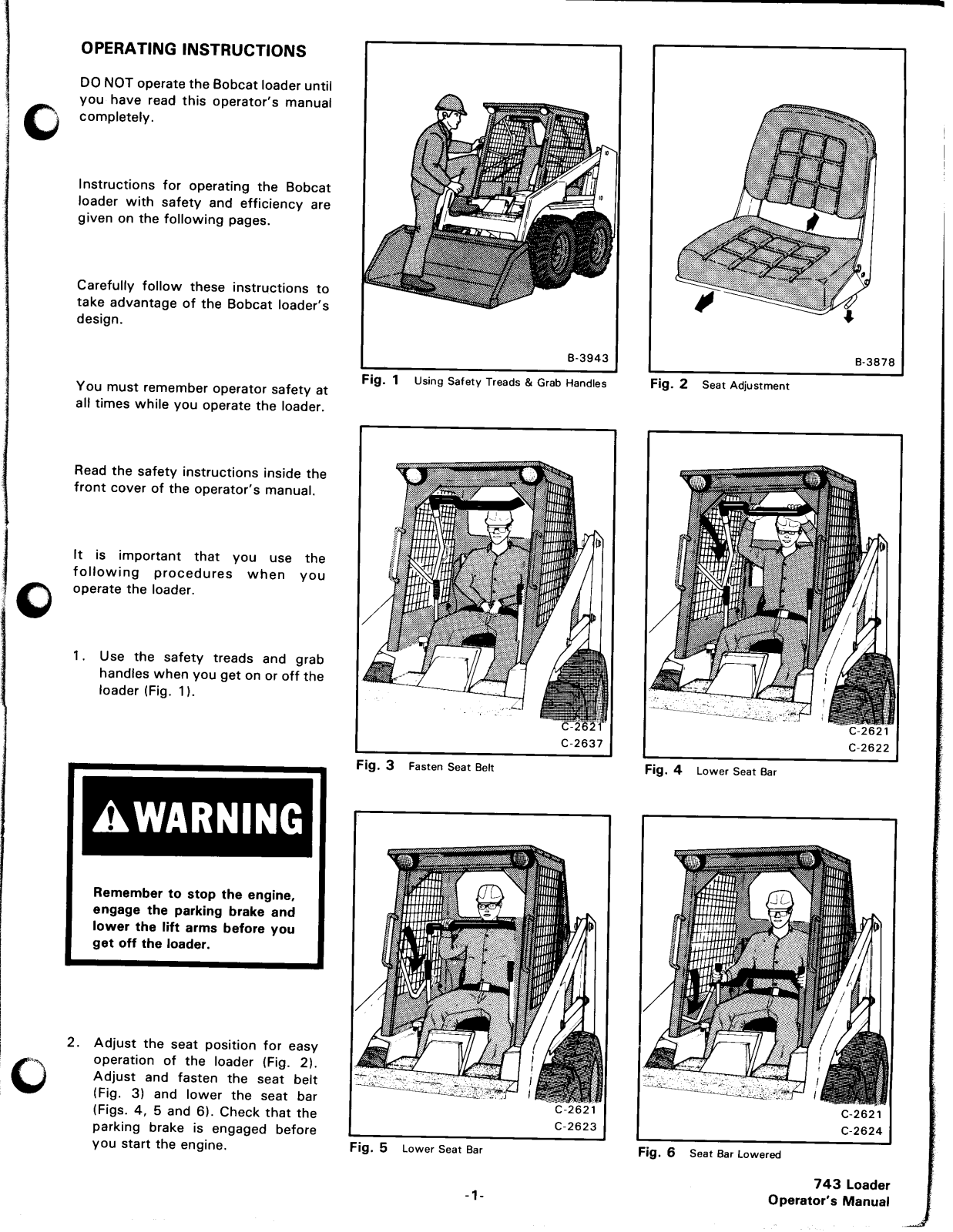 Bobcat 743 Operators Manual