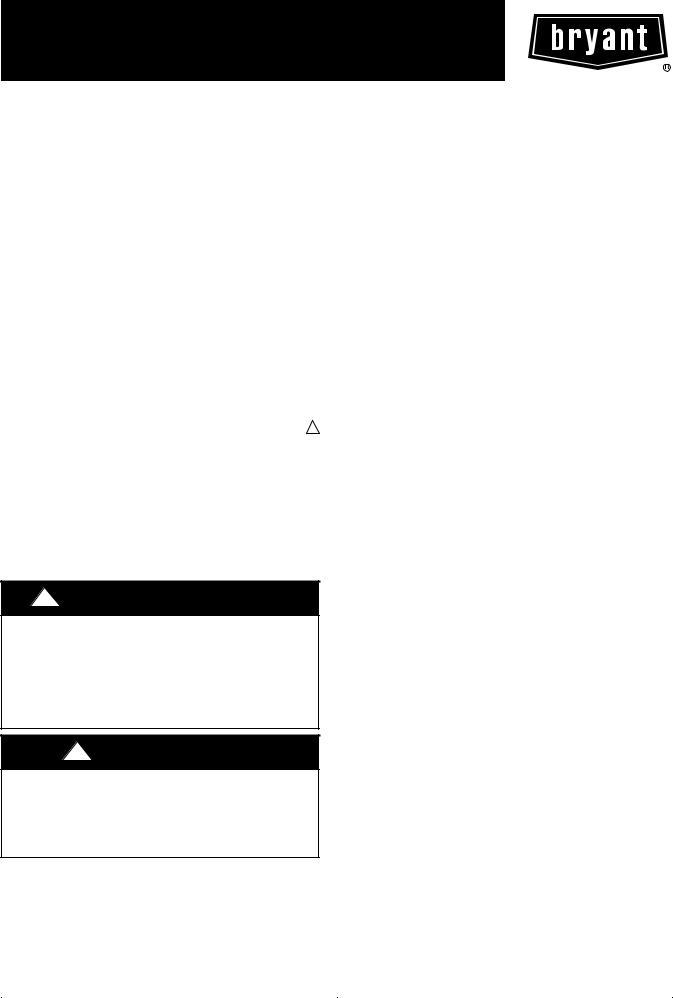 Bryant 286B, 289B User Manual