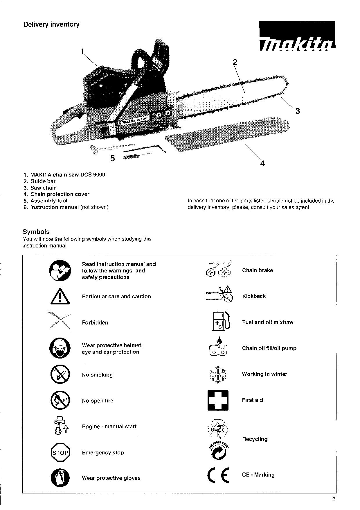 Makita DCS 9000 User Manual