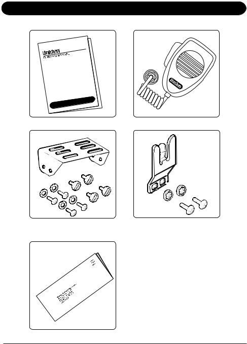 Uniden CB RADIO UH012, UH012 CB User Manual