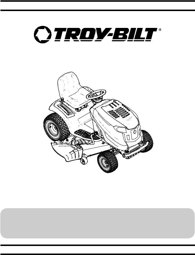 Troy-Bilt TB 1942, TB 2350, TB 2246, TB 2454 Hydro User Manual