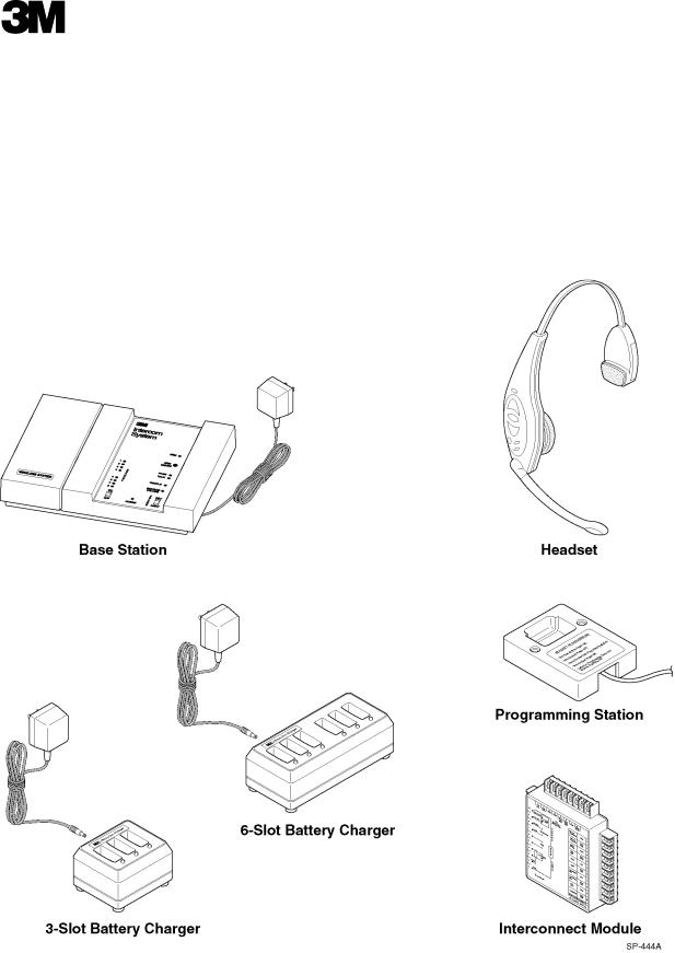 3M Headset Intercom System C1060 User Manual