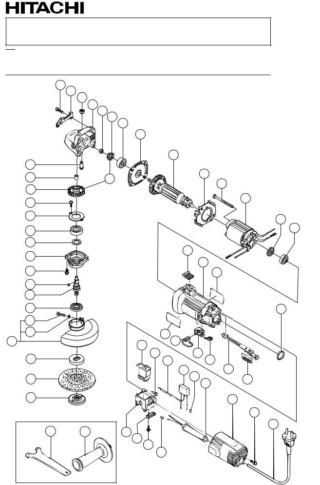 Hitachi G12S2 ELECTRIC TOOL PARTS LIST User Manual