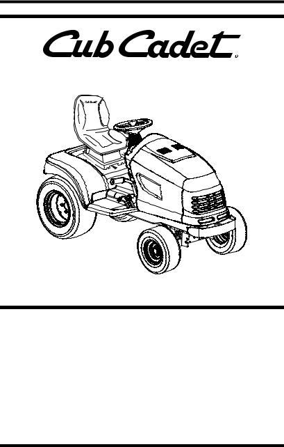 Cub Cadet SERIES 3000 TRACTOR GT 3200, GT 3200 User Manual