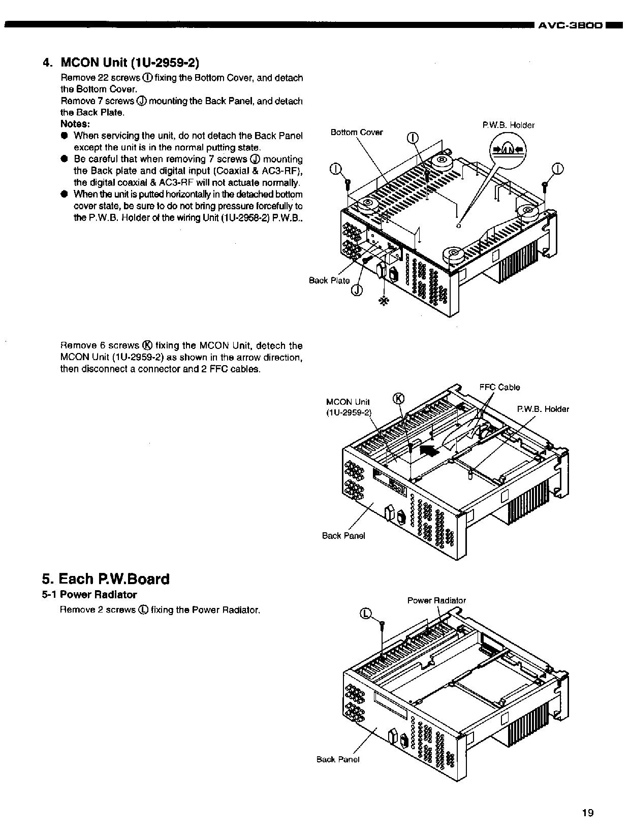 Denon AVC-3800 Service Manual
