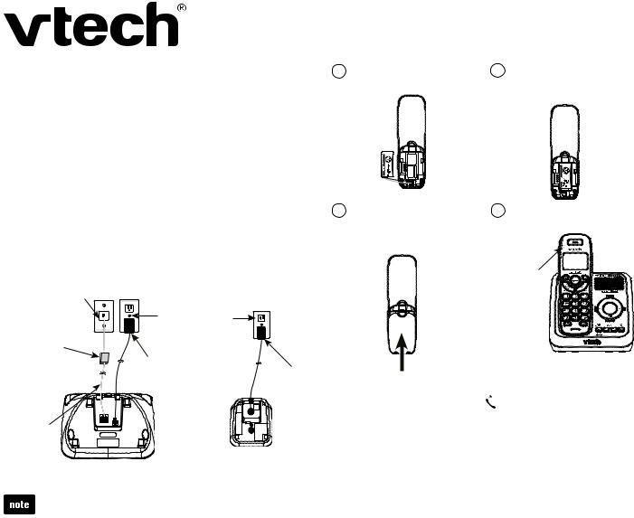 VTech CS6124_-2-31 Quick start User Manual