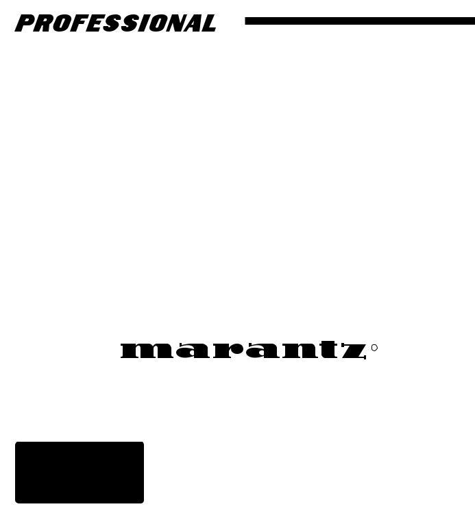 Marantz CDR300 User Manual