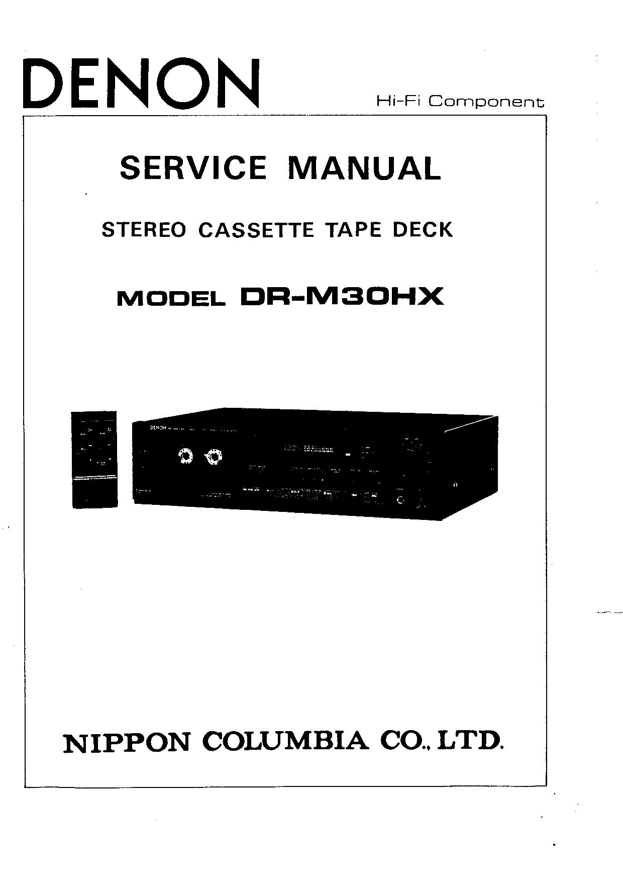 Denon DR-M30HX Service Manual