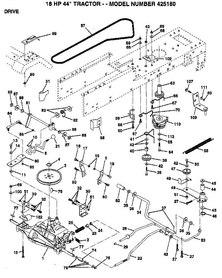 AYP 425180 Parts List