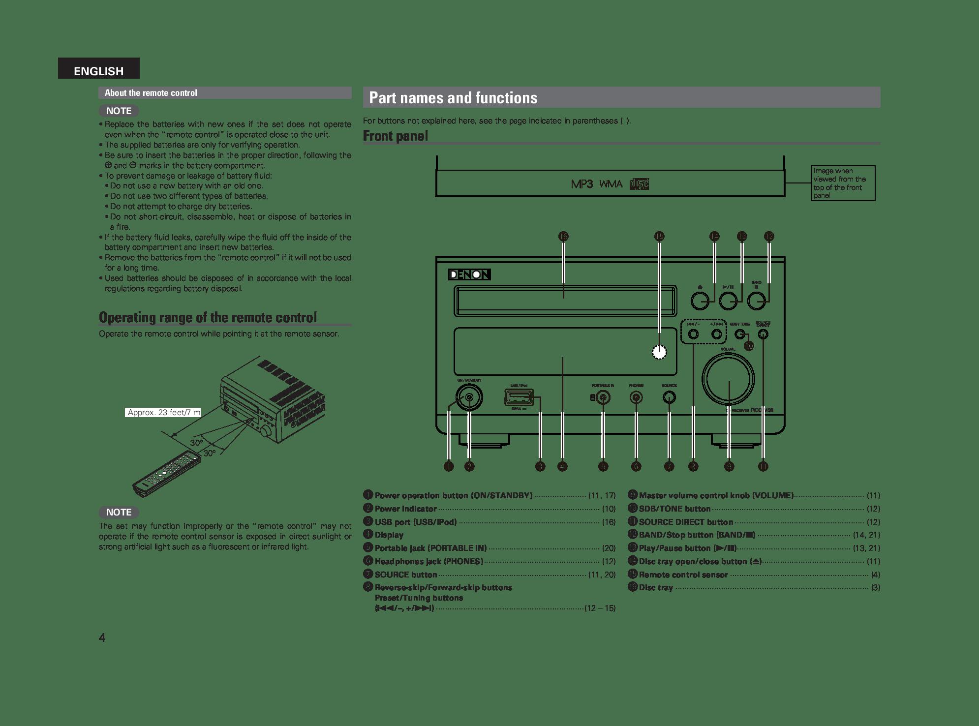 Denon RCD-M38 User Manual