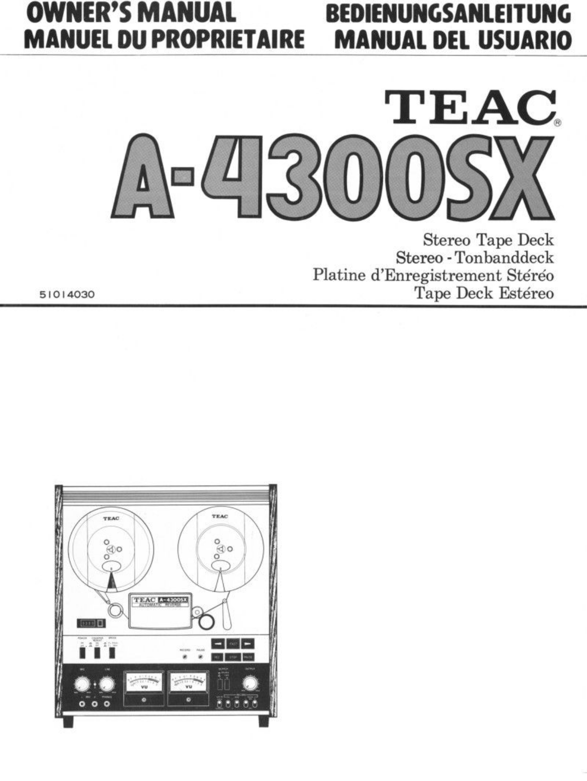 TEAC A-4300-SX Owners manual