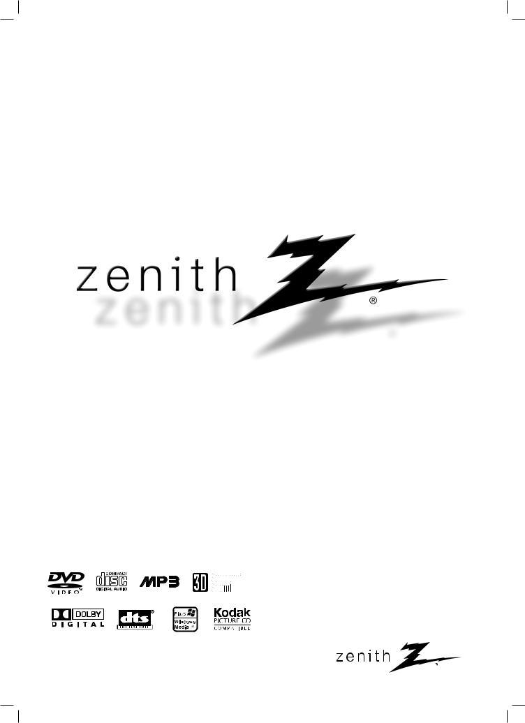 Zenith DVD Player DVB412 User Manual