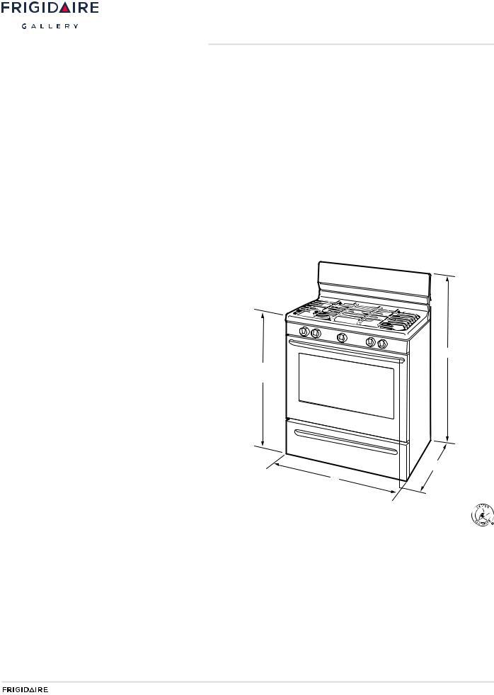 FRIGIDAIRE FGGF3030PW, FGGF3030PB User Manual