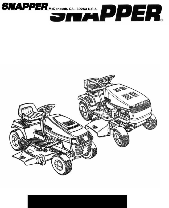 Snapper Lawn Mower Accessory User Manual