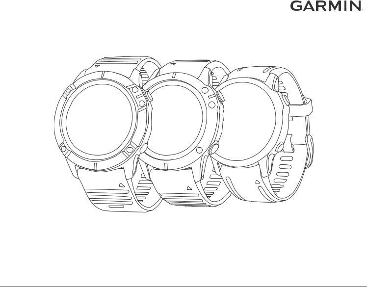 Garmin Fenix 6X PRO, Fenix 6X, Fenix 6, Fenix 6S User Manual