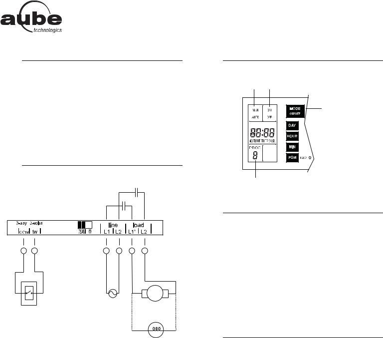 Aube Technologies TI040 User Manual