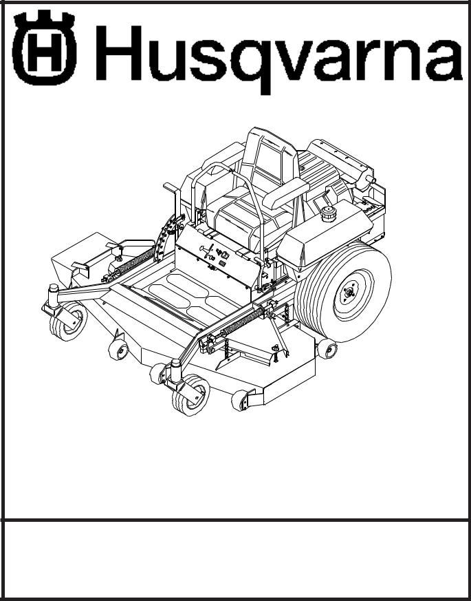 Husqvarna ZTH5225A, ZTH6125A, ZTH5223A User Manual