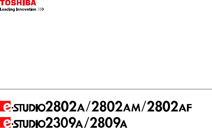 Toshiba E-STUDIO2802AM, E-STUDIO2309A, E-STUDIO2802A, E