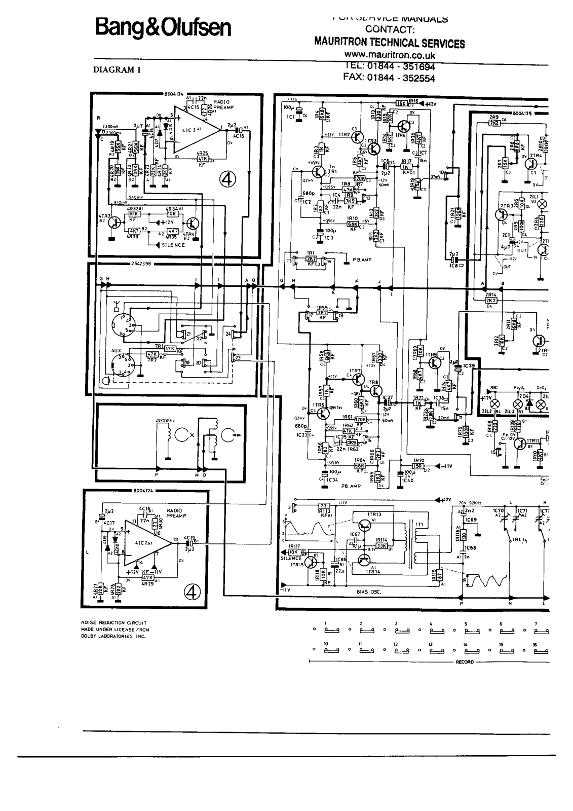 Bang and Olufsen Beocord 5000, Beocord 5000 C Service manual