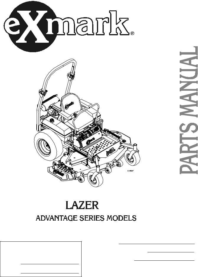 Exmark Lazer Z Advantage Series User Manual