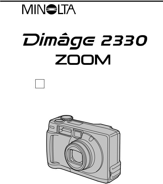 Konica Minolta DiMAGE 2330 ZOOM Instruction Manual