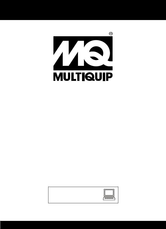 Multiquip DlW330X2, WElDEr/gEnEratOr (KuBOta D902E3BWDDE2