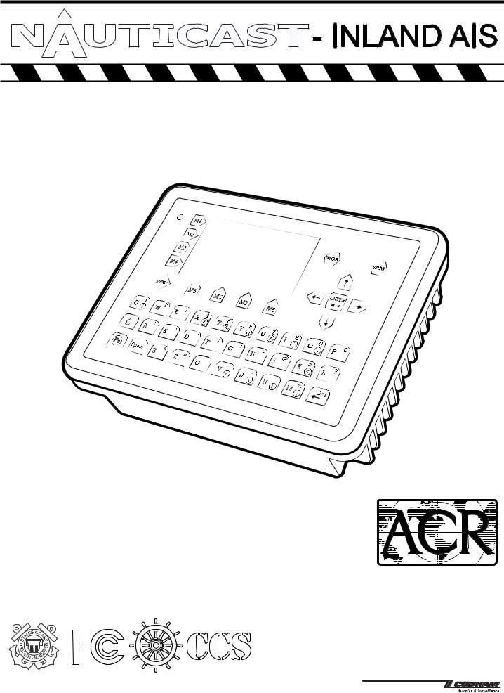 ACR Electronics NAUTICAST INLAND AIS INSTALLATION MANUAL