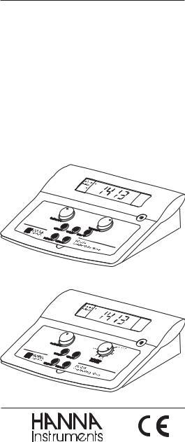 Hanna Instruments EC 214 User Manual