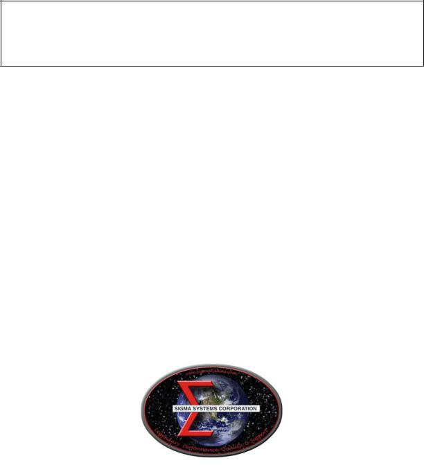 Sigma C4 User Manual