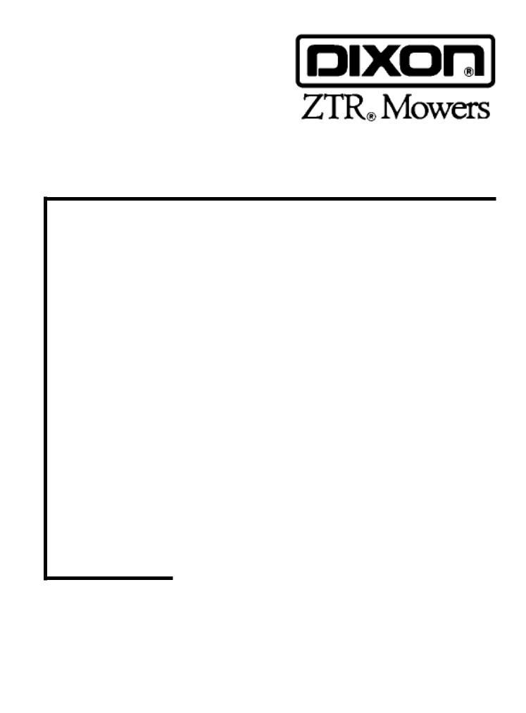 Dixon ZTR 5023, ZTR 5425 User Manual