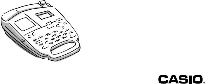 Casio KL-750 User Manual
