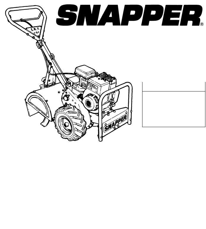 Snapper IR4001B, IR4002B, IR5002B, IR4000B, IR4002T User