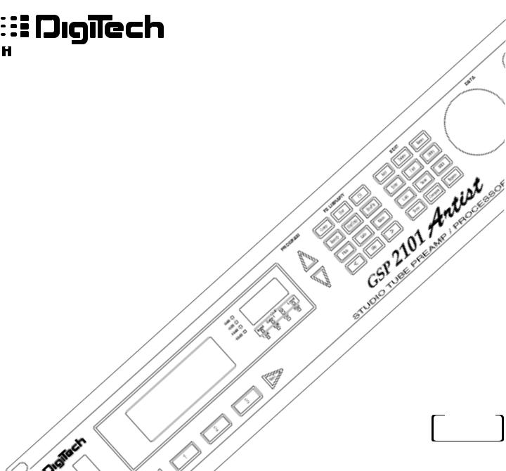 DigiTech GSP2101 User Manual