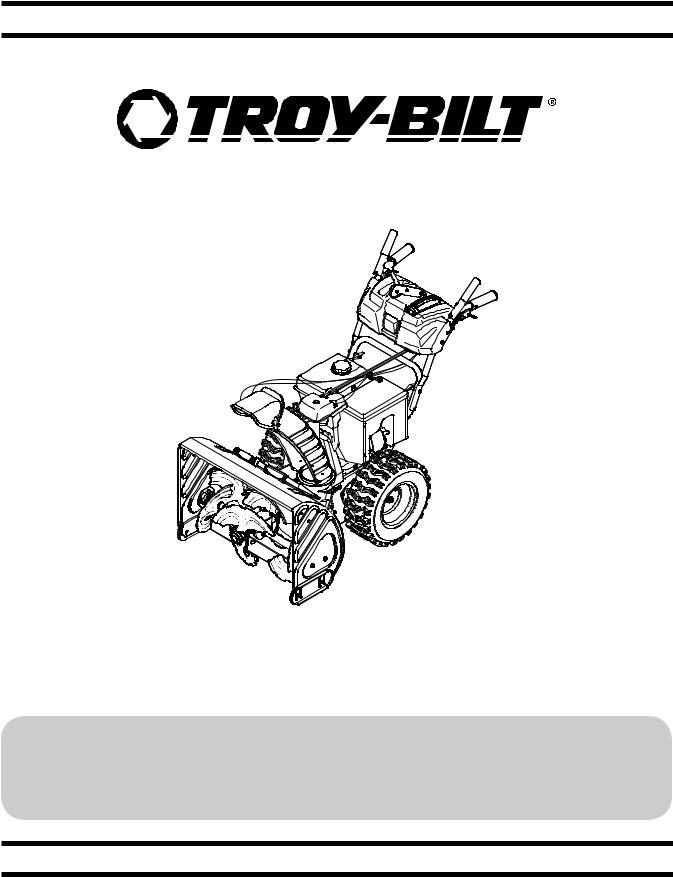 Troy-Bilt Vortex 2490 Snow Thrower, Vortex 2890 Snow