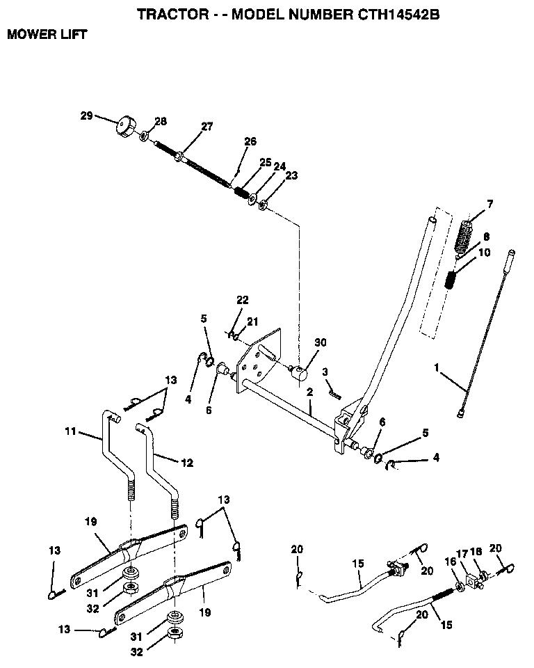 AYP CTH14542B Parts List