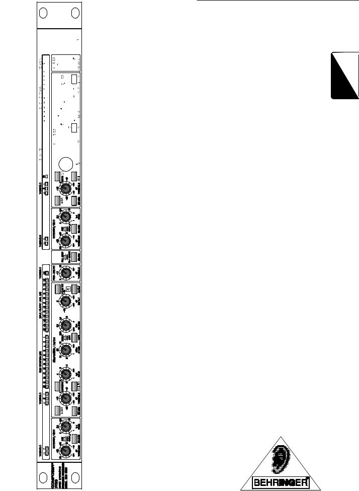 Behringer MDX2200 User Manual