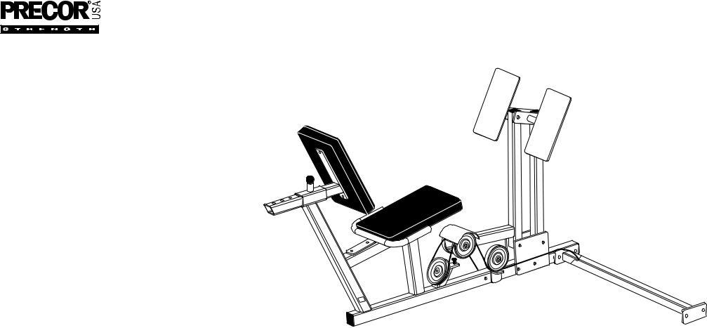 Precor Leg Press S3.25 User Manual