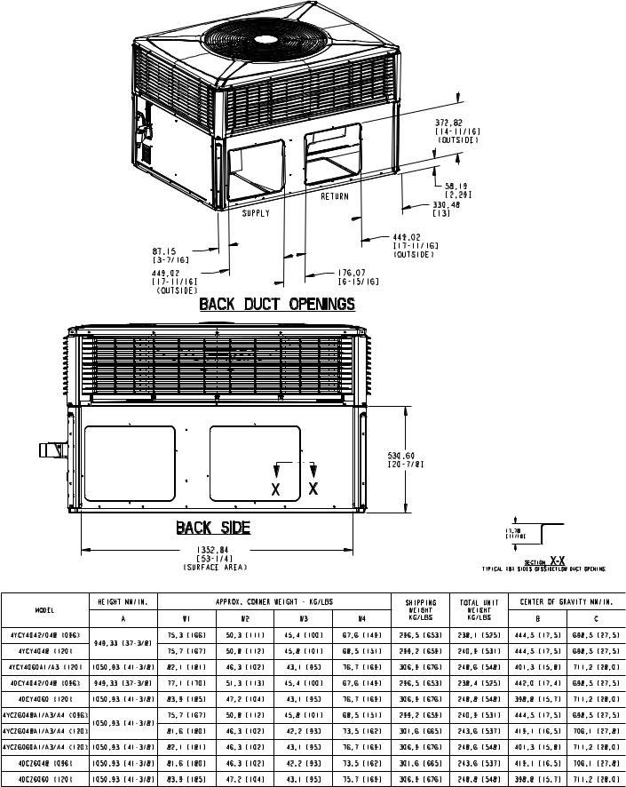 Trane 4YCY4060A, 4YCY4024A User Manual