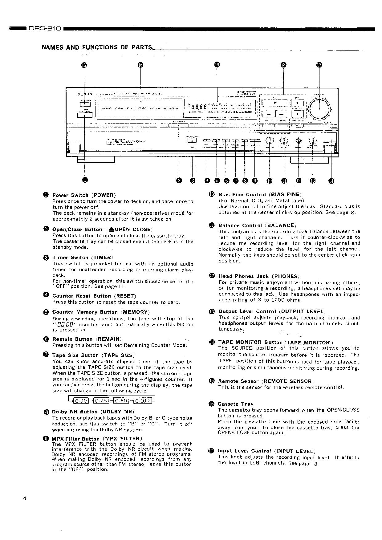 Denon DRS-810 Service Manual