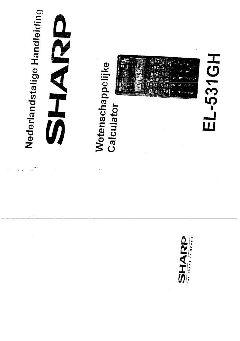 SHARP EL-531GH User Manual