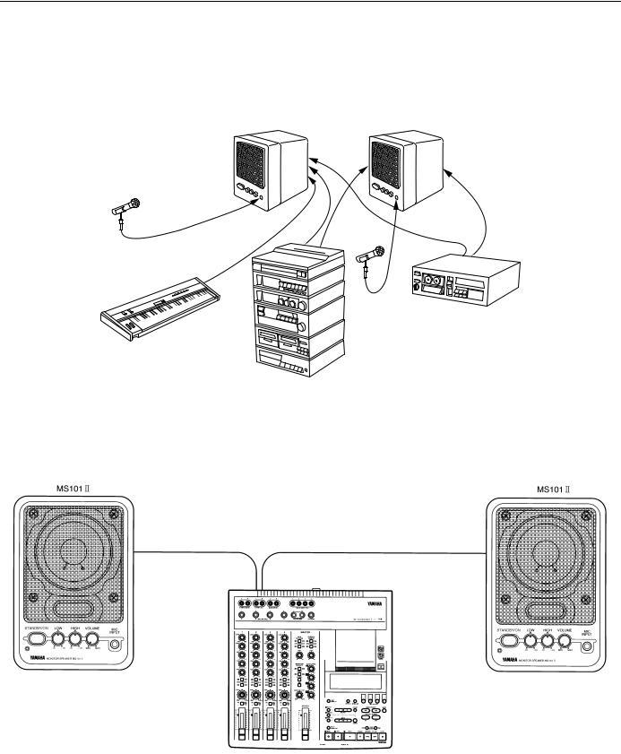Yamaha MS101II User Manual