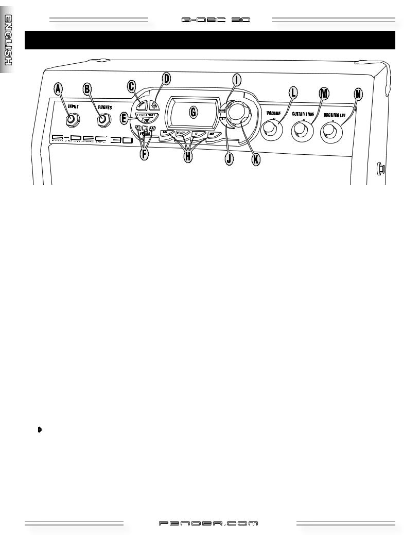Fender G-DEC 30 User Manual