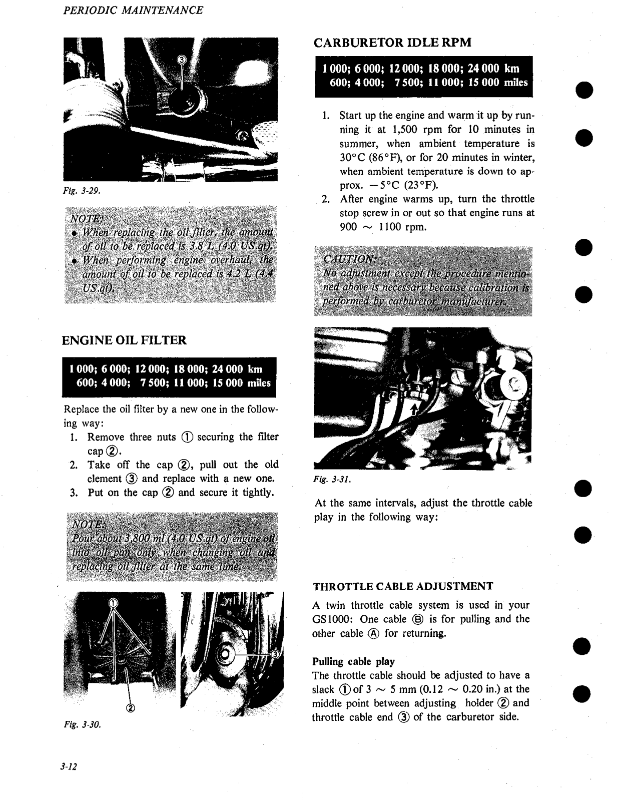 Suzuki GS1000 (1980) User Manual